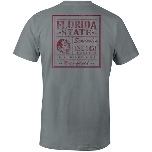 Image One Men's Florida State University Comfort Color Vintage Poster Short Sleeve T-shirt