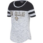 5th & Ocean Clothing Juniors' New Orleans Saints Space Dye Fan T-shirt