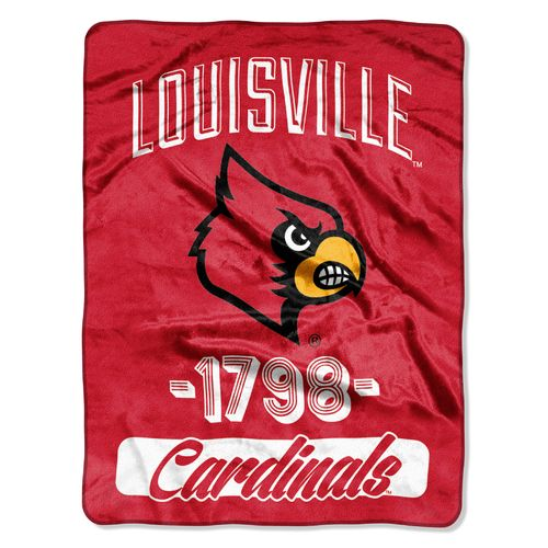 NCAA University of Louisville Halftone Micro Raschel Throw