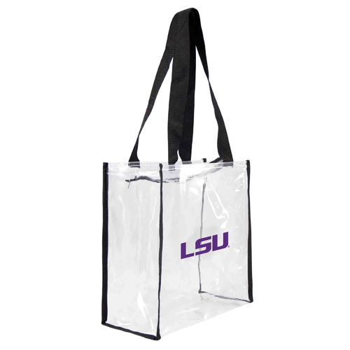Little Earth Productions Louisiana State University Clear Square Tote Bag
