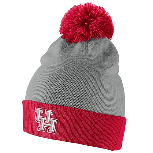 Nike™ Men's University of Houston Swoosh Pom-Pom Knit Cap