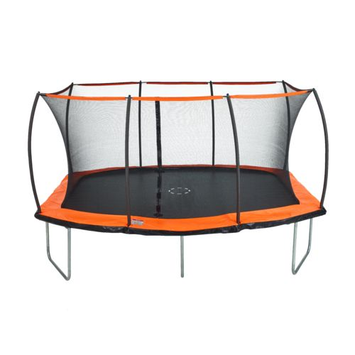 Jump Zone 15 ft x 10 ft Rectangular Trampoline with Enclosure