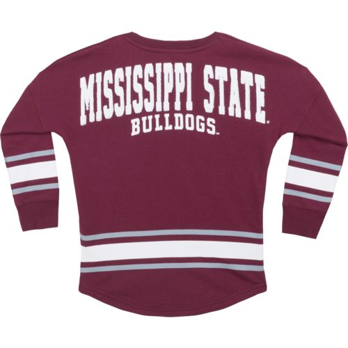 Colosseum Athletics™ Girls' Mississippi State University Boyfriend Varsity Pullover