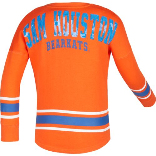 Colosseum Athletics™ Girls' Sam Houston State University Boyfriend Varsity Pullover