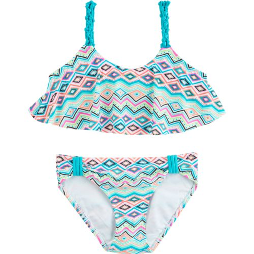 O'Rageous Kids Girls' Chevron Mosaic 2-Piece Bikini Swimsuit