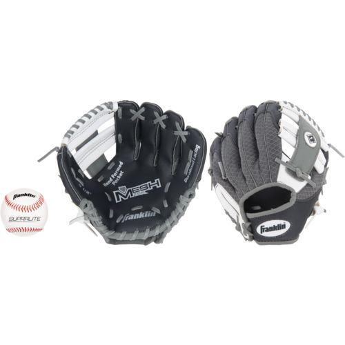 "Franklin Youth Meshtek 9.5"" T-ball Glove with Ball"