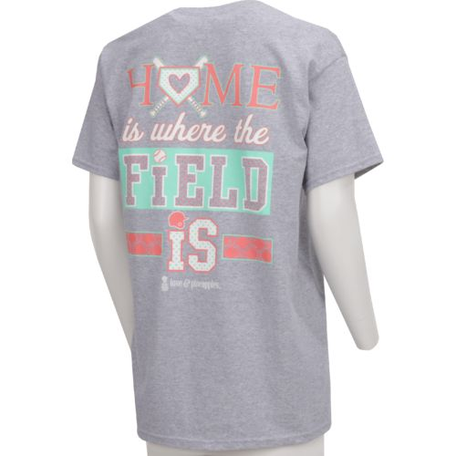 Love & Pineapples Women's Home is Where the Field Is Short Sleeve T-shirt