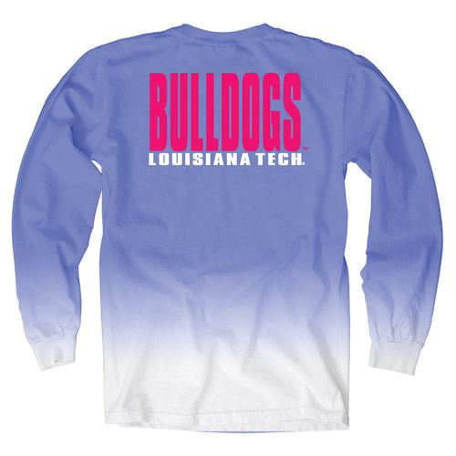 Blue 84 Women's Louisiana Tech University Ombré Long Sleeve Shirt
