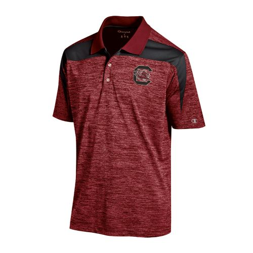 Champion™ Men's University of South Carolina Synthetic Colorblock Polo Shirt