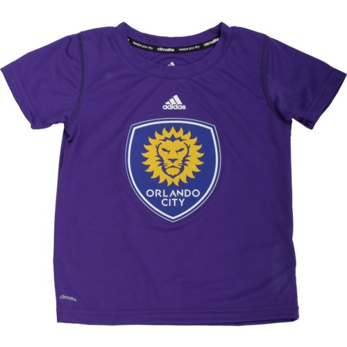 adidas Toddlers' Orlando City SC climalite Primary Logo Short Sleeve Crew Neck T-shirt