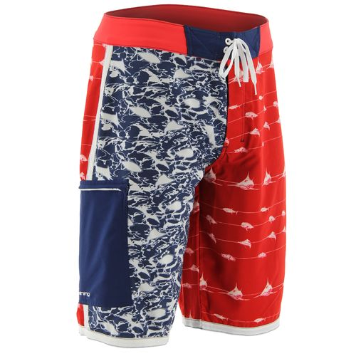 Huk Men's KScott Flag Boardshort