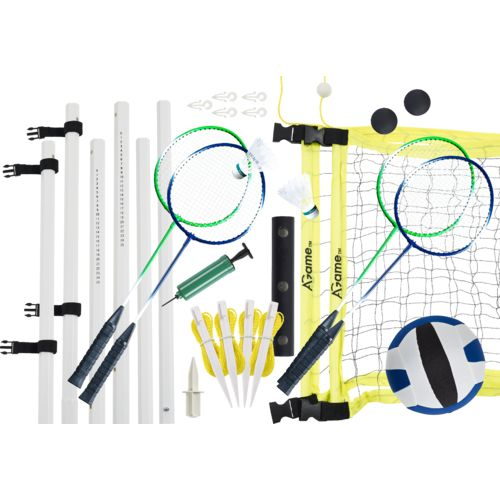 AGame Badminton and Volleyball Combo Set