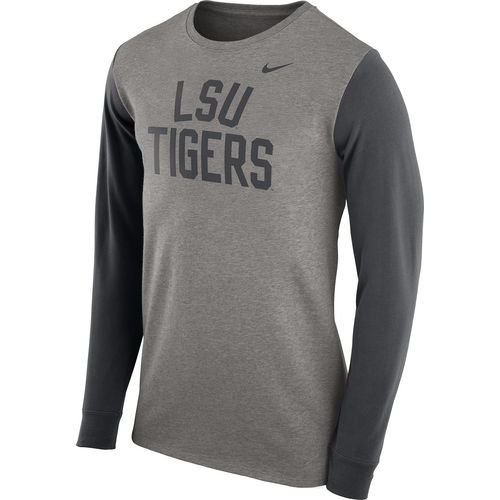 Nike Men's Louisiana State University Heavyweight Elevated Essentials Long Sleeve T-shirt
