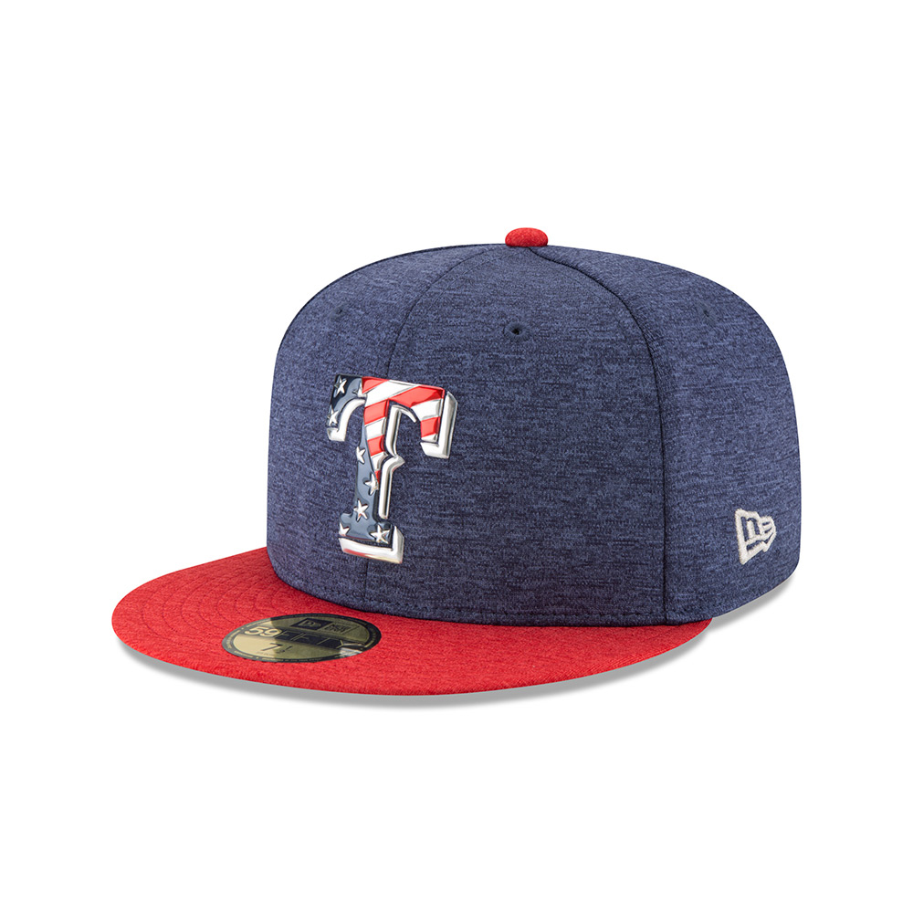 New Era Men's Texas Rangers Stars and Stripes 2T '17 59FIFTY Cap