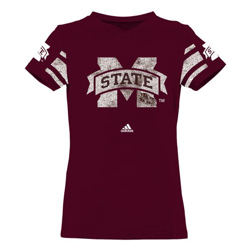 adidas Girls' Mississippi State University Fashion Jersey T-shirt