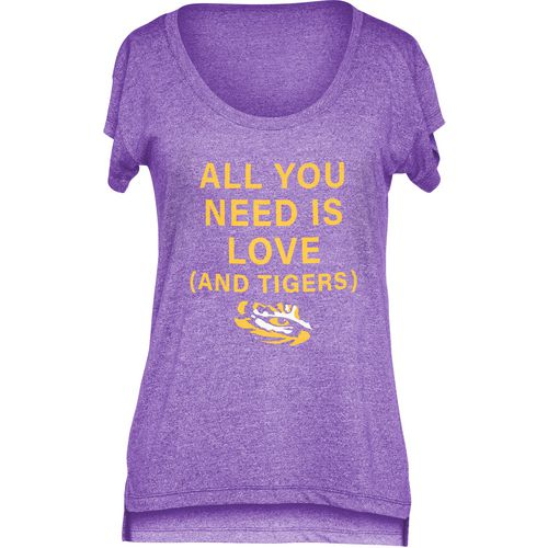 Chicka-d Women's Louisiana State University Scoop-Neck T-shirt