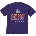 New World Graphics Women's East Carolina University Comfort Color Initial Pattern T-shirt - view number 1