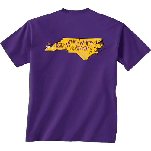 New World Graphics Girls' East Carolina University Where the Heart Is Short Sleeve T-shirt - view number 1
