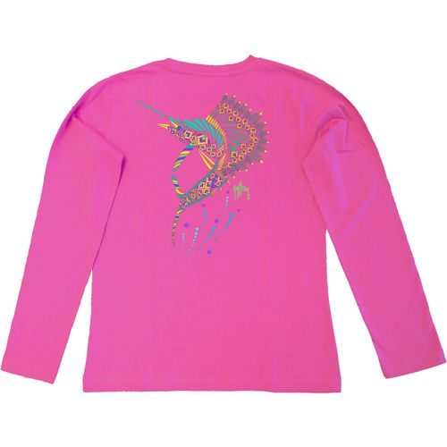 Guy Harvey Women's Sailfish Mandala Long Sleeve T-shirt