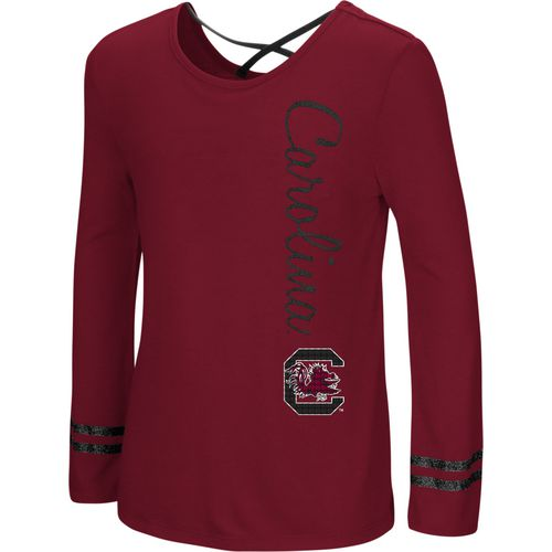 Colosseum Athletics Girls' University of South Carolina Marks the Spot Strappy Back Long Sleeve T-sh