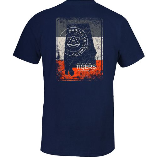 Image One Men's Auburn University State Map T-shirt