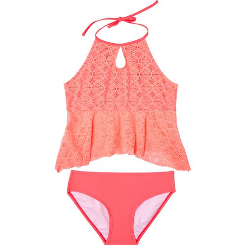 O'Rageous Girls' Medallion Crochet 2-Piece Tankini
