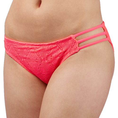 O'Rageous Juniors' Solid Crochet Hipster Swim Bottoms