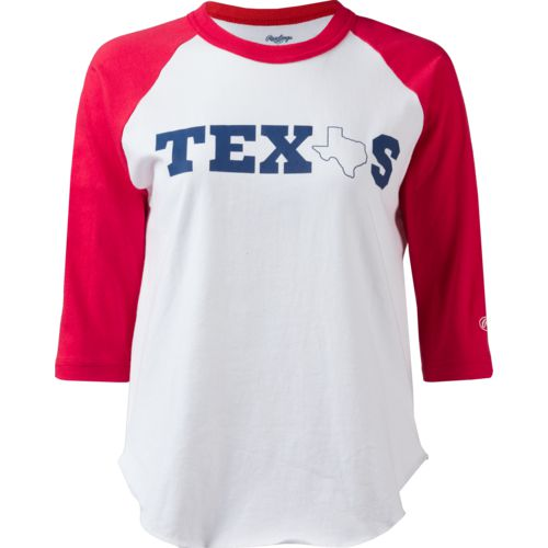 Rawlings Boys' Texas Graphic 3/4-Sleeve Baseball Shirt
