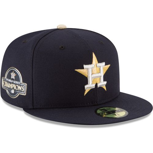 New Era Men's Houston Astros Gold Patch 59FIFTY Cap - view number 4