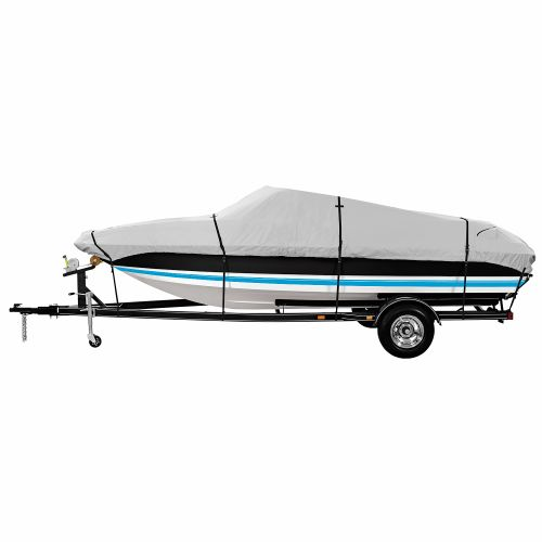 Marine Raider Platinum Series Model C Boat Cover For 16' - 18.5' Fish And Ski Pro-Style Bass Boats