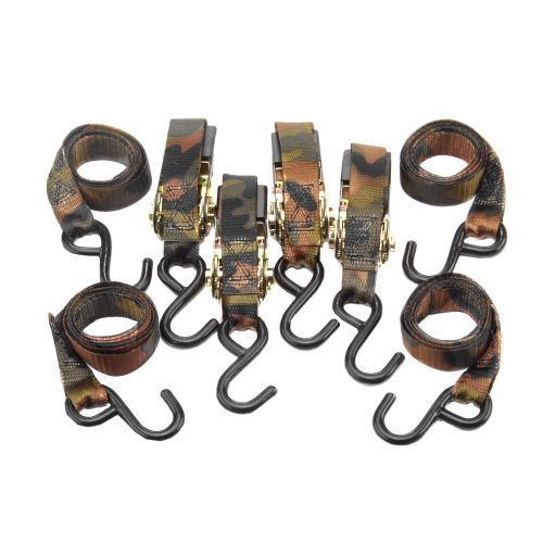Highland 1' Camo Ratchet Tie-Downs 4-Pack
