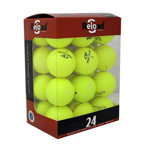 Reload™ Optic Yellow Value Brands Recycled Golf Balls 24-Pack
