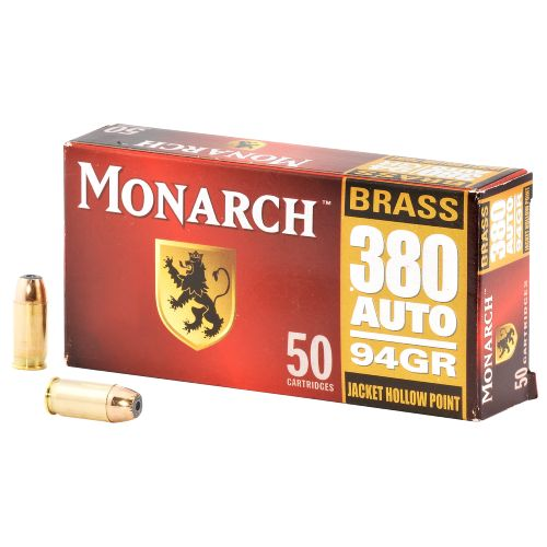 Monarch™ JHP .380 Automatic 94-Grain Pistol Ammunition