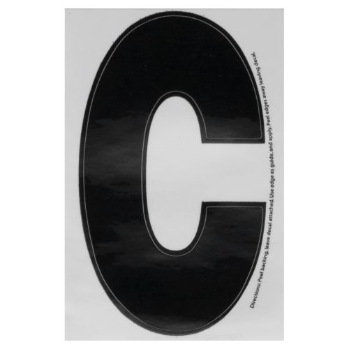 "Hardline Products® Dyer 3"" Letter C Decal"