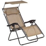 Mosaic Oversize Multiposition Lounger with Canopy