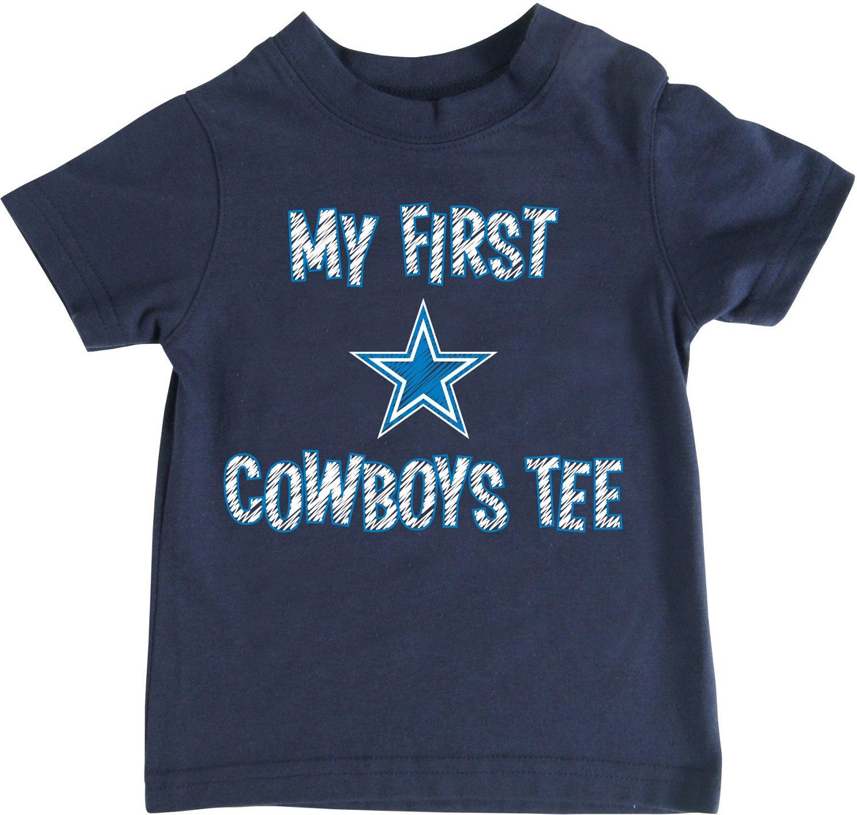 Dallas cowboys toddlers 39 my first t shirt academy for Dallas cowboys fishing shirt