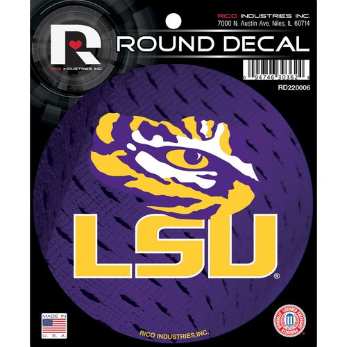 Rico Louisiana State University Round Decal