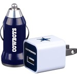 Mizco Dallas Cowboys Home and Away USB Chargers 2-Pack