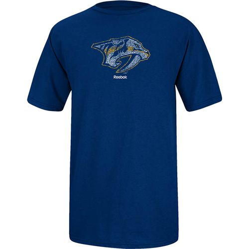 Image for Reebok Men's Nashville Predators Faded Primary Logo T-shirt from Academy