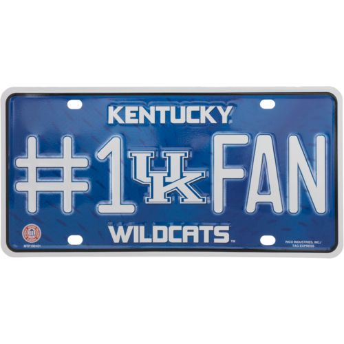 Rico University of Kentucky #1 Fan Metal Auto Tag