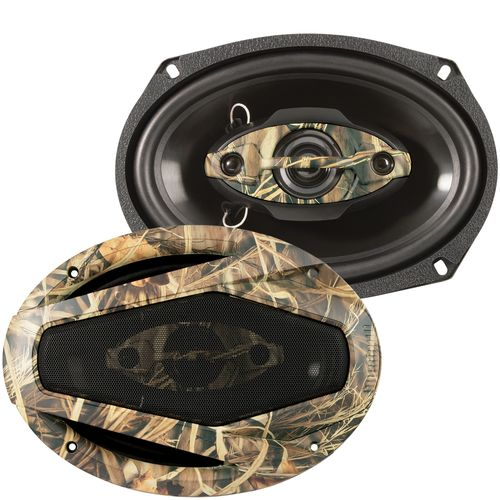 Dual Realtree Camo 6' x 9' 4-way Speakers (Pair)