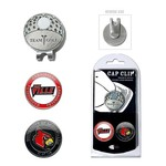 Team Golf University of Louisville Cap Clip and Markers Set