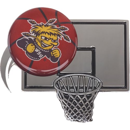 Stockdale Wichita State University Chrome Basketball Auto Emblem