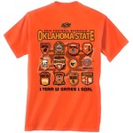 New World Graphics Men's Oklahoma State University Schedule T-shirt
