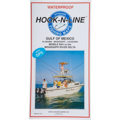 Hook-N-Line Gulf of Mexico Offshore Fishing Map