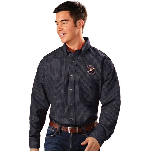Antigua Men's Houston Astros Esteem Dress Shirt