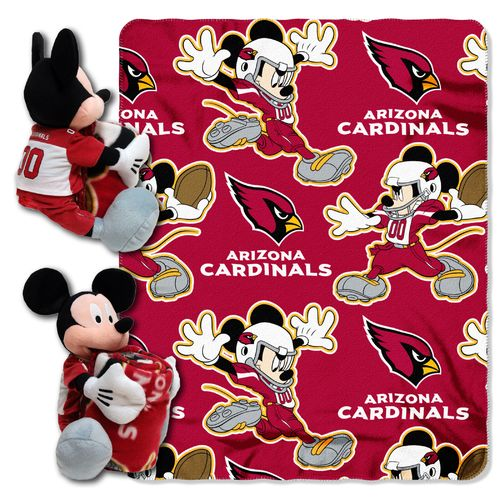 The Northwest Company Arizona Cardinals Mickey Mouse Hugger and Fleece Throw Set - view number 1