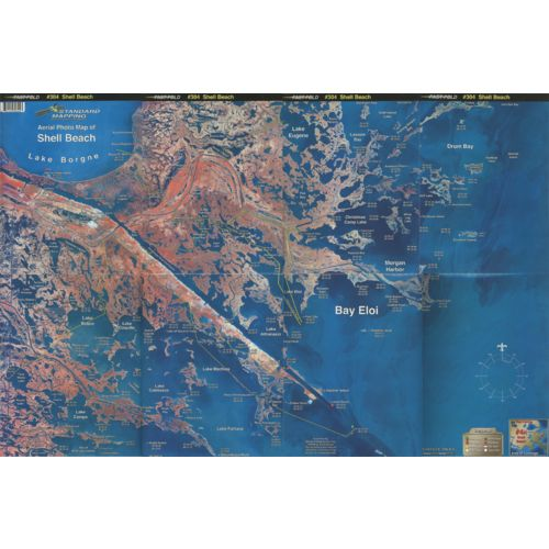 Standard Mapping 304 Shell Beach - Hopedale Folded Aerial Photo Map