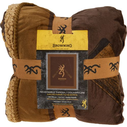 Browning Rifles Micro Mink Throw Blanket