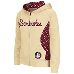 Colosseum Athletics Girls' Florida State University Polka Poly Fleece Hoodie